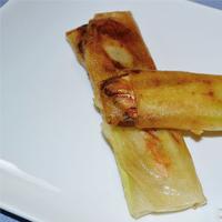 رول ماهی سالمون و سبزیجات با یوفکا